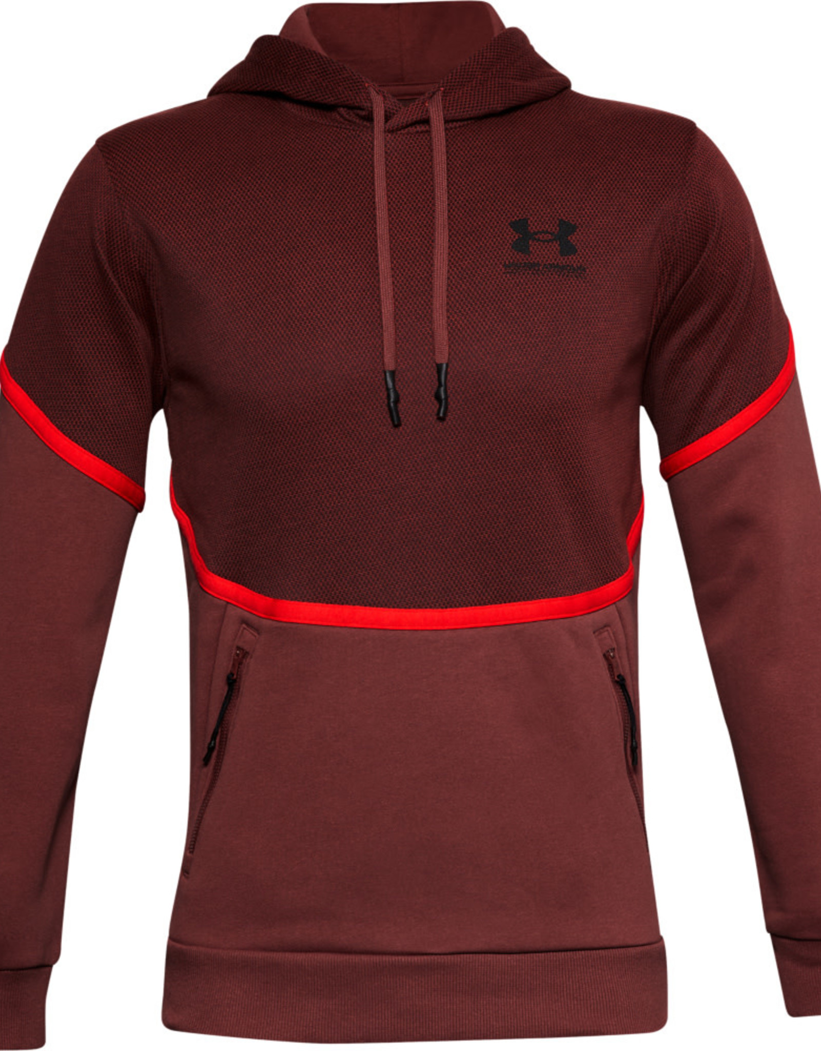 Under Armour UA Rival Fleece AMP HD - Cinna Red--Onyx White