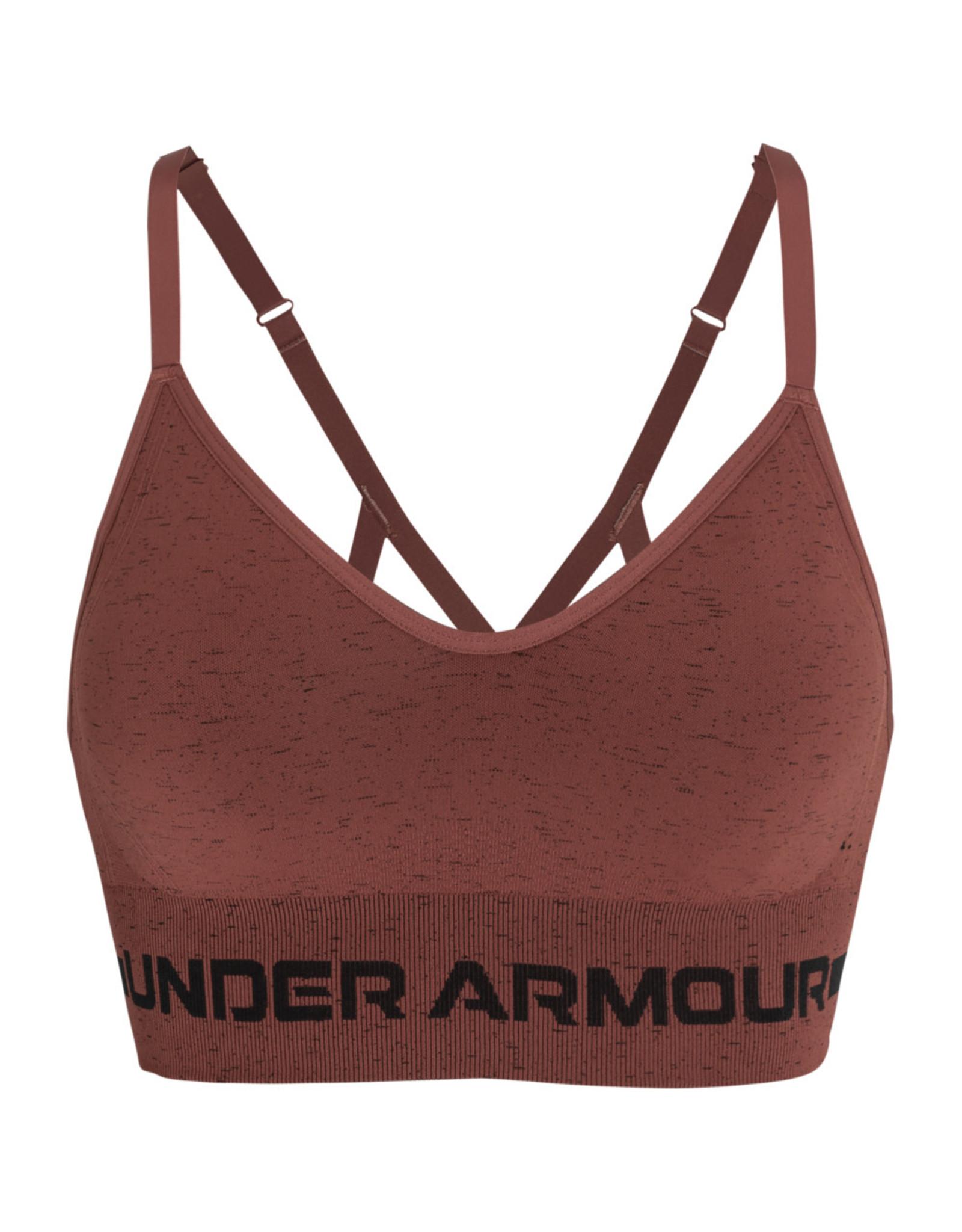 Under Armour UA Seamless Low Long Htr Bra - Cinna Red--Black