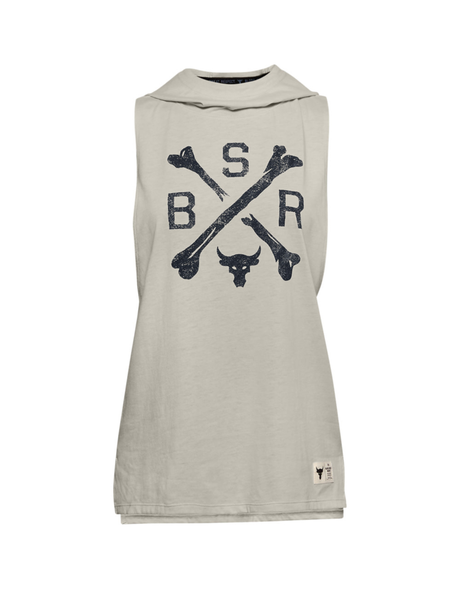 Under Armour UA Project Rock Hooded Tank - Summit White-Black-Black