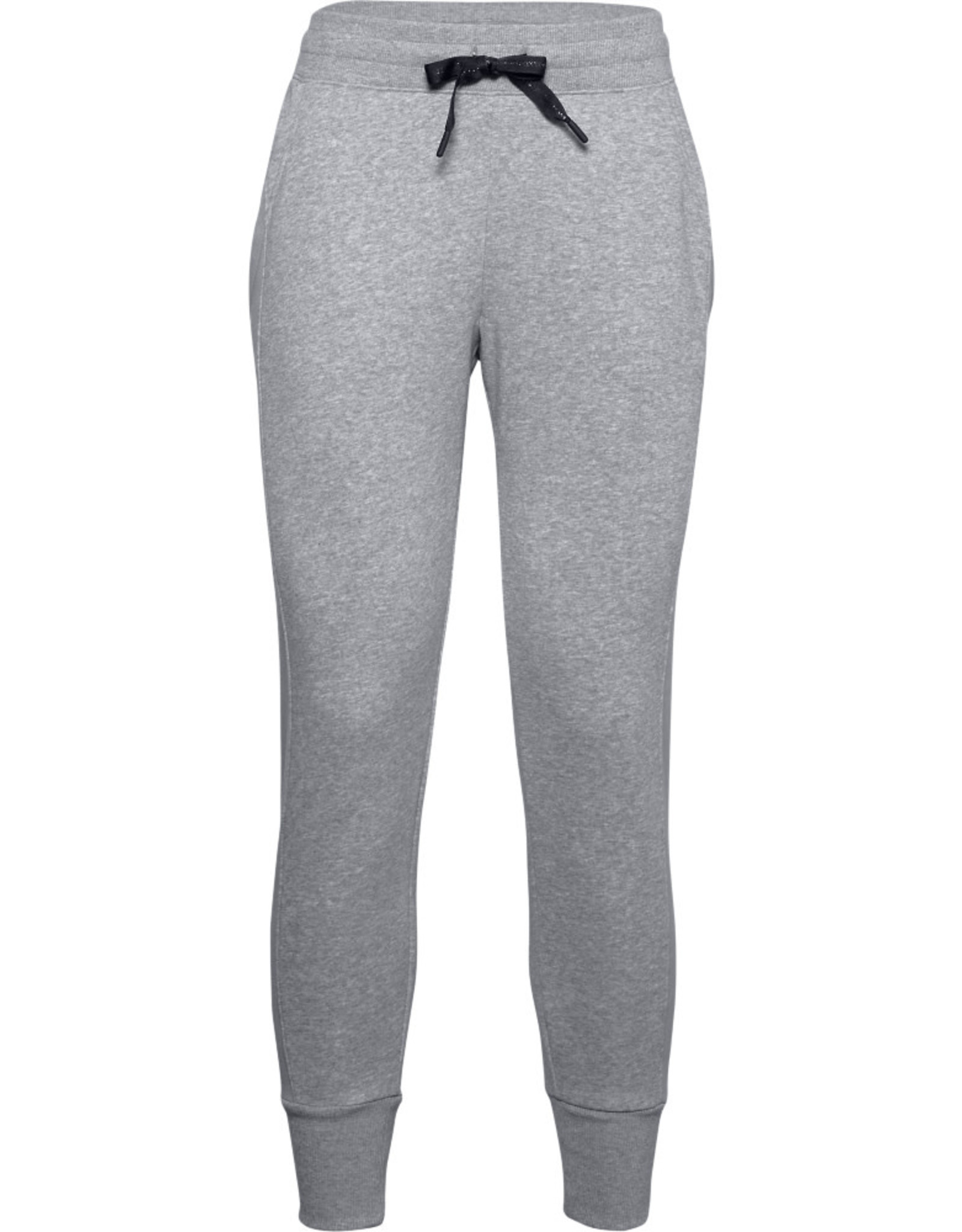 Under Armour UA Rival Fleece EMB Pant - STEEL MEDIUM HEATHER-Steel-Black