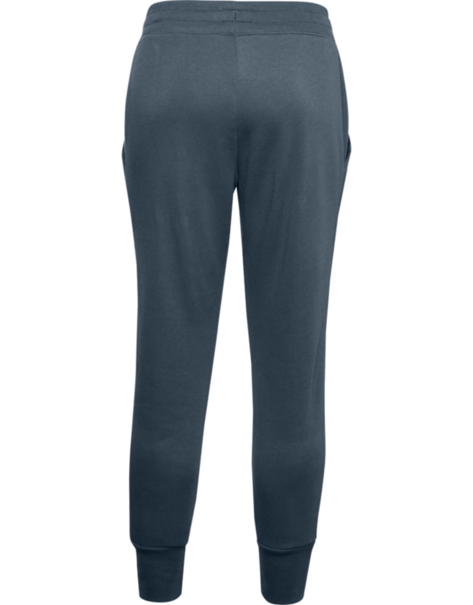 Under Armour UA Rival Fleece EMB Pant - Mechanic Blue-Mechanic Blue-Metallic Silver