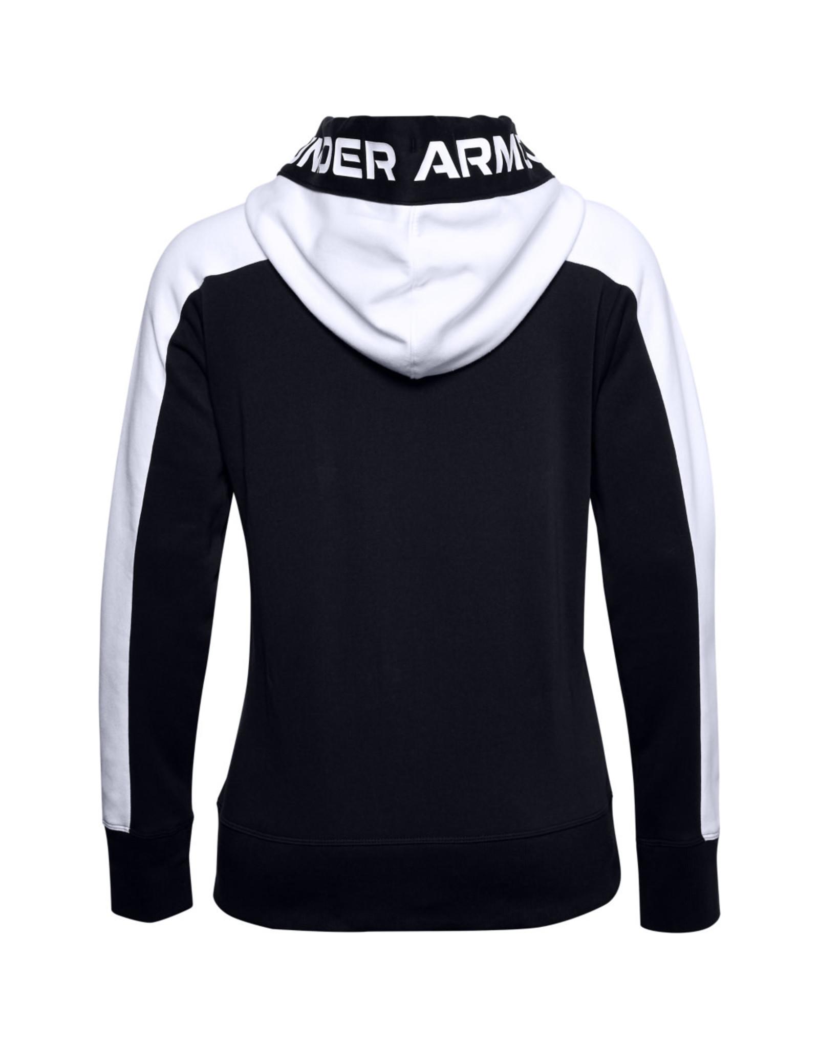 Under Armour Rival Flece Grphic CB Hoodie - Black-White-White