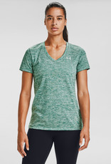 Under Armour Womens's UA Tech V-Neck - Saxon Green Light Heather