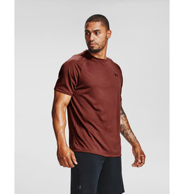 Under Armour Men's UA Tech Tee - Cinna Red--Black