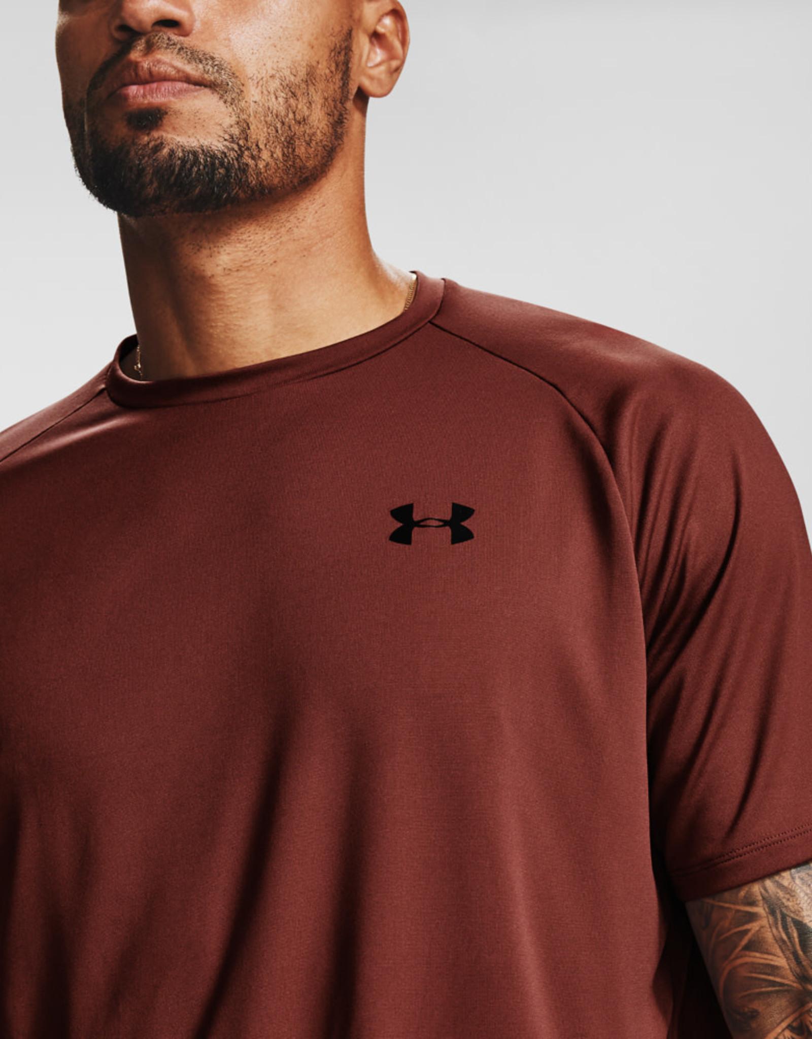 Under Armour Men's UA Tech Tee - Cinna Red--Black
