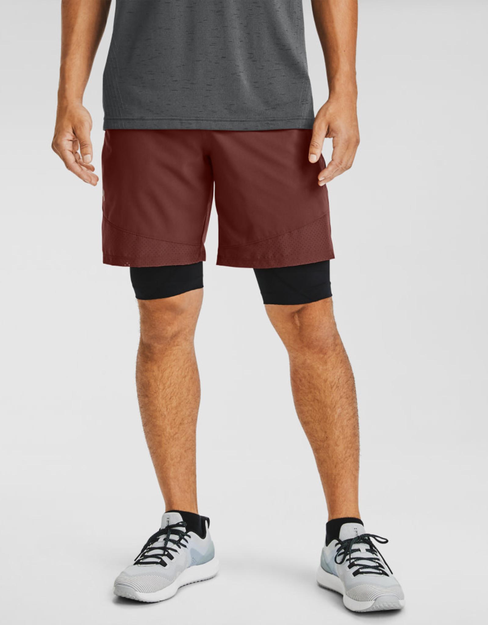 Under Armour UA Vanish Woven Shorts - Cinna Red--Black