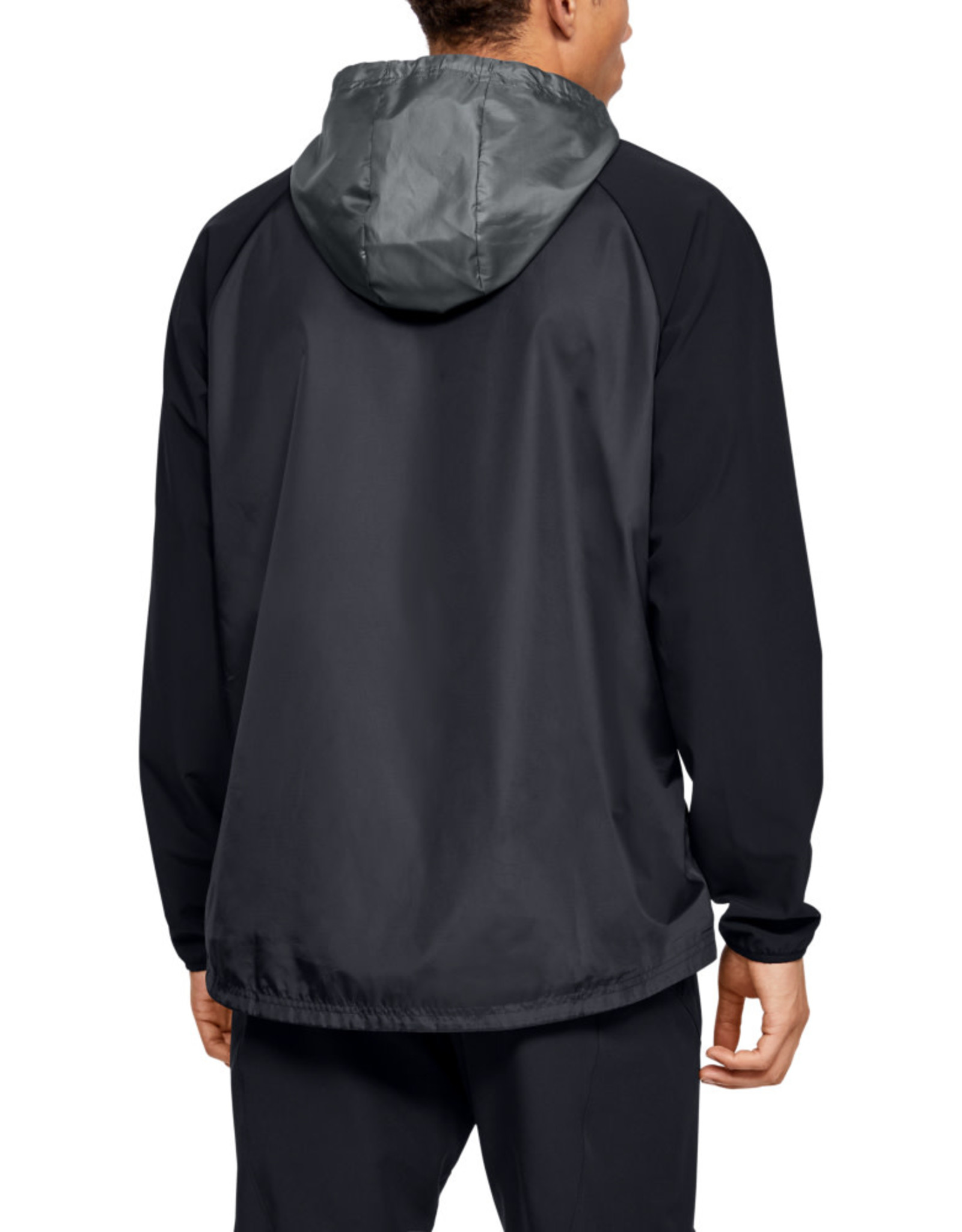 Under Armour Stretch-Woven Hooded Jacket - Black
