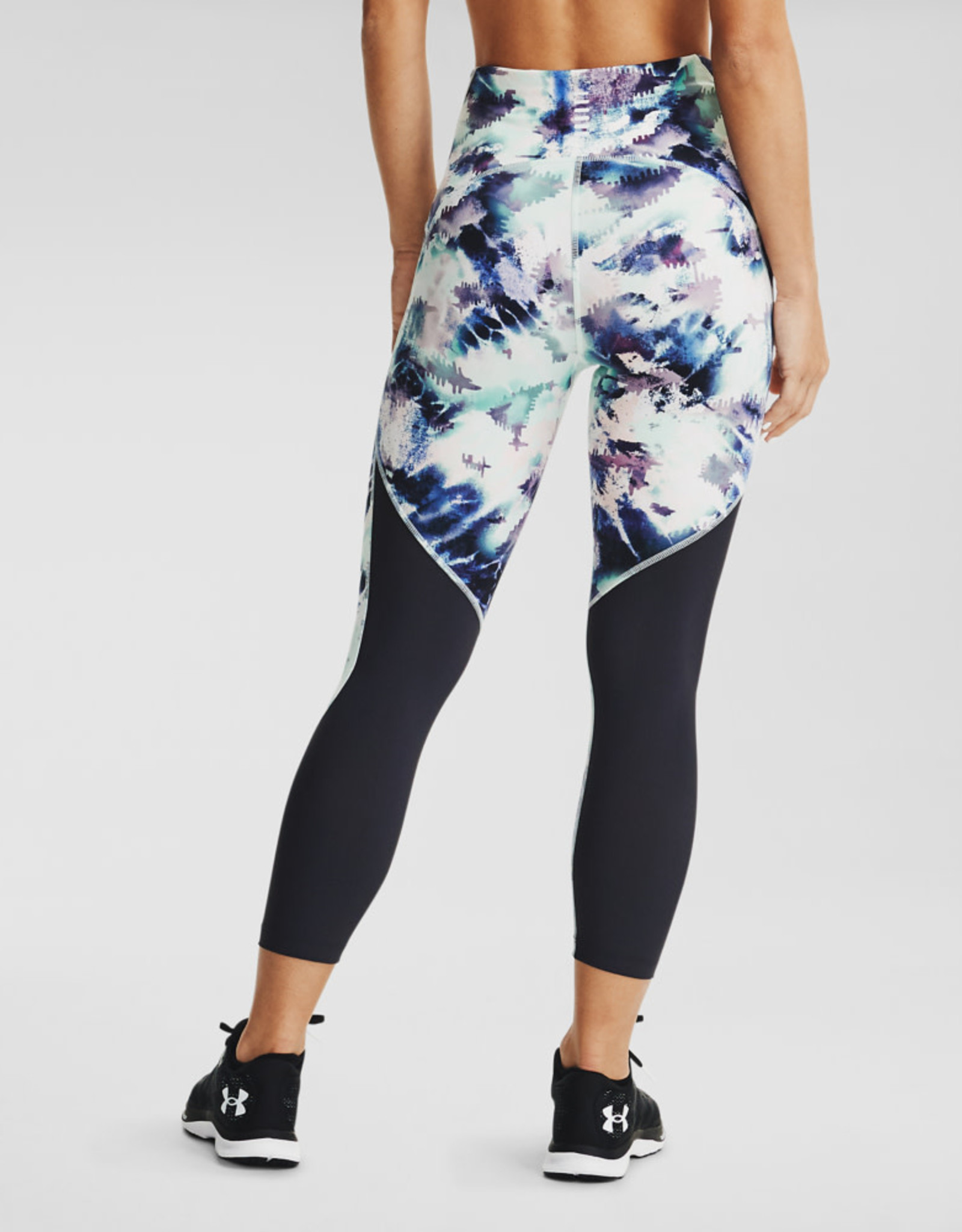 Under Armour UA Fly Fast HG Printed Crop - Seaglass Blue-Blackout Purple-Reflective
