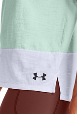 Under Armour UA Charged Cotton SS - Seaglass Blue-White-Black