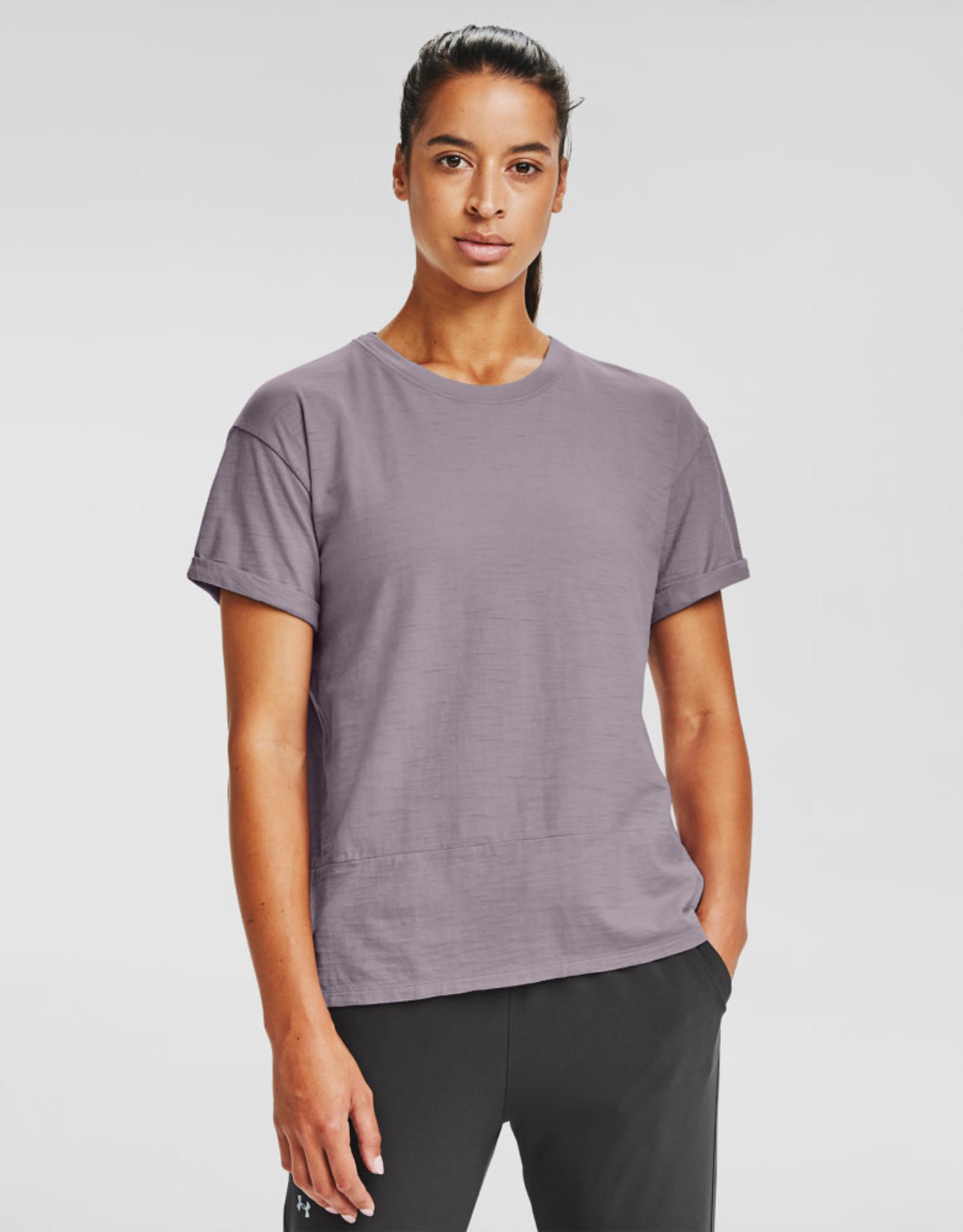 Under Armour UA Charged Cotton SS - Slate Purple-Slate Purple-Black