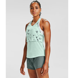 Under Armour UA Streaker 2.0 Inverse Tank - Seaglass Blue-Lichen Blue-Reflective