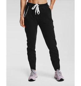 Under Armour Recover Fleece Pants - Black-White-White