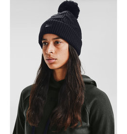 Under Armour UA Around Town Pom Beanie - Black-Black-Black - OSFA