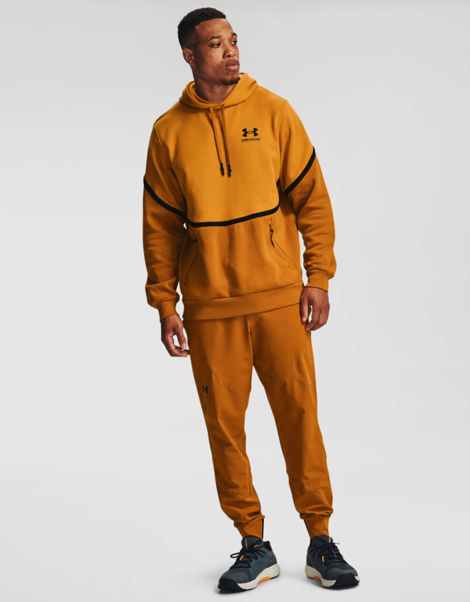 Under Armour UA Rival Fleece AMP HD - Golden Yellow--Black