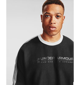 Under Armour UA Rival Fleece AMP Crew - Black-Onyx White-Black