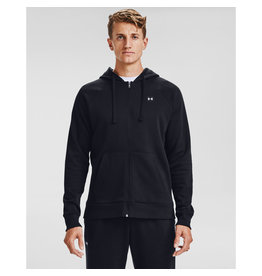 Under Armour UA Rival Fleece FZ Hoodie - Black--Onyx White