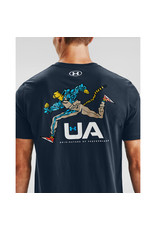 Under Armour UA RUNNING CHEETAH SS - Academy--White
