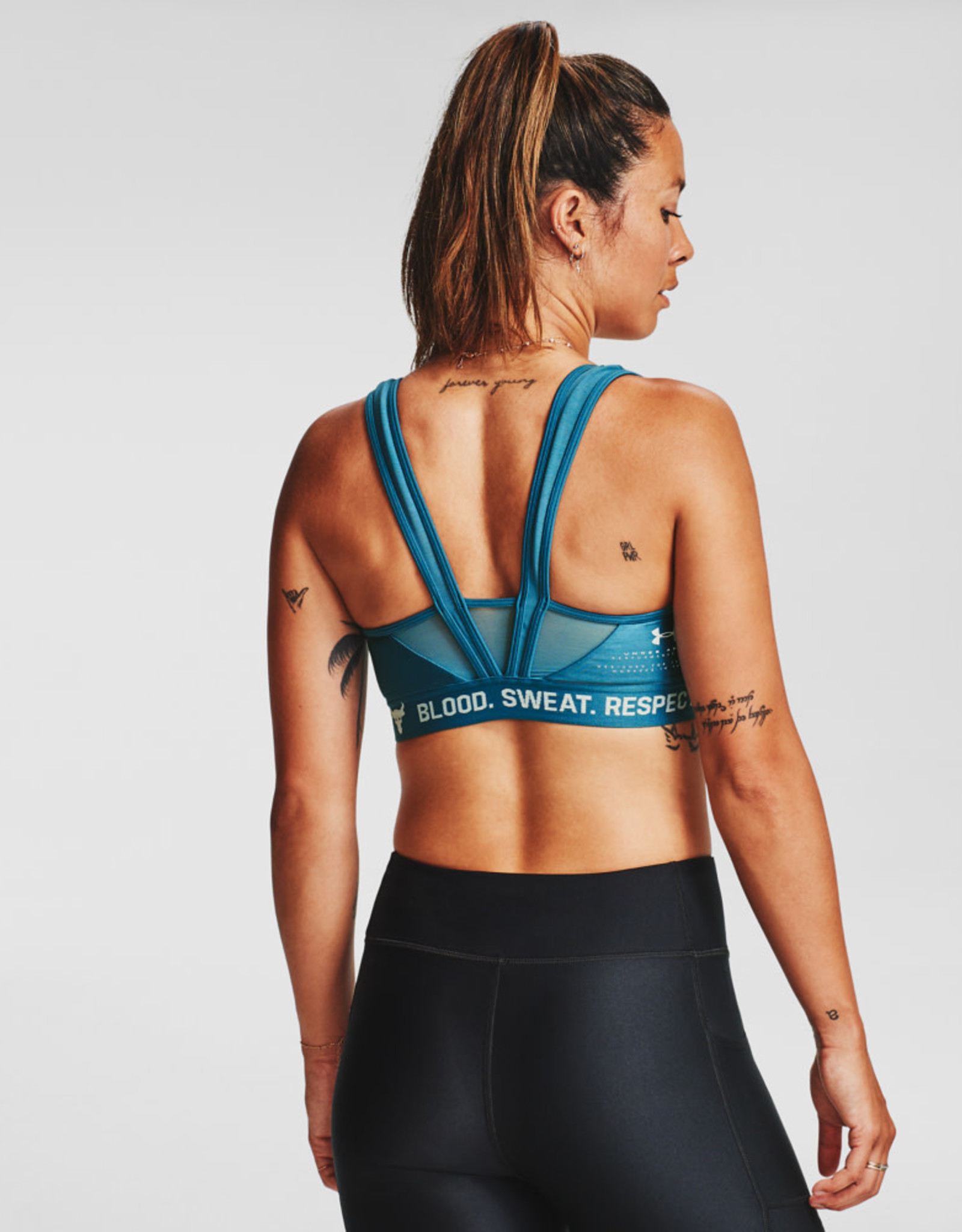 Under Armour UA Project Rock Bra Solid - Acadia--SKYLIGHT
