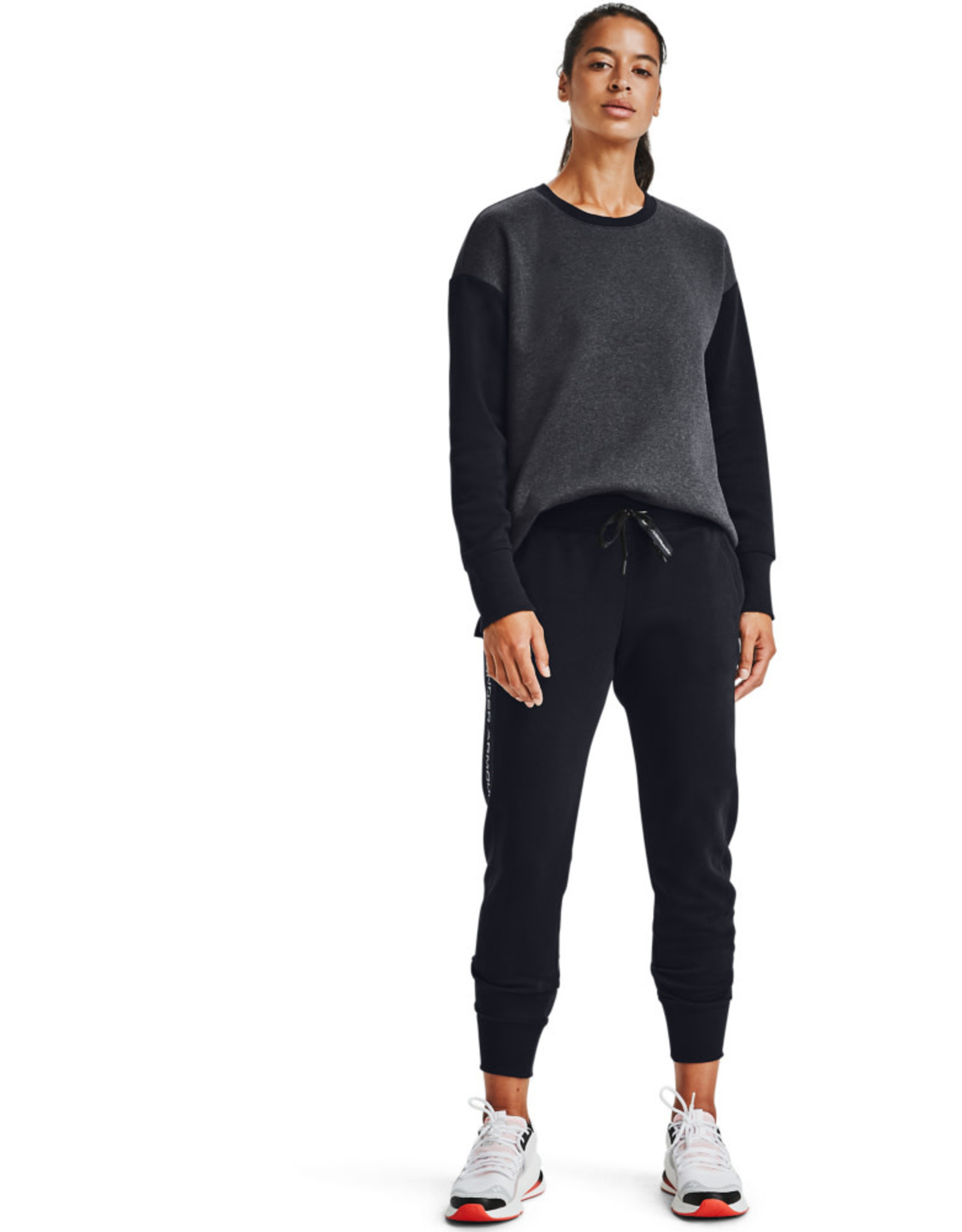 Under Armour UA Rival Fleece EMB Pant - Black-Black-Black