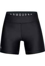 Under Armour UA HG Armour Middy - Black-Black-Metallic Silver