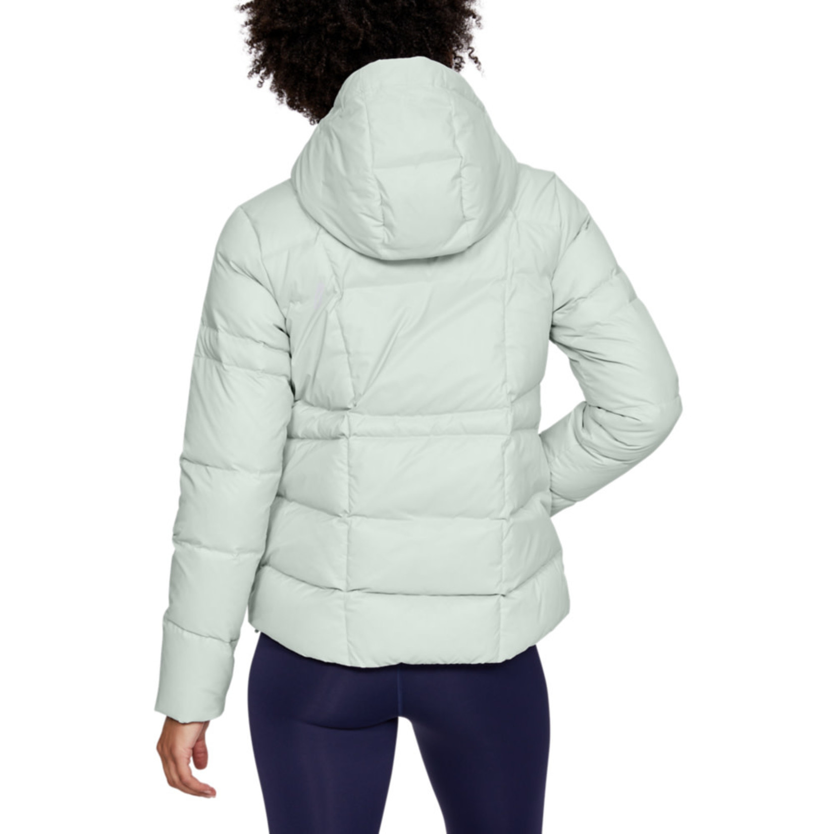 Under Armour UA Armour Down Hooded Jkt - Halo Gray--Onyx White