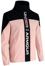 Under Armour Recover Woven CB Jacket - Black-Desert Rose-METALLIC ROSE GOLD