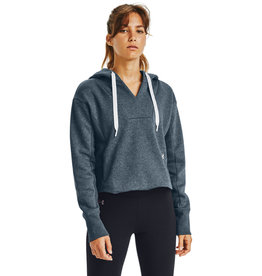 Under Armour Rival Fleece EMB Hoodie - Mechanic Blue Medium Heather-Mechanic Blue-Black