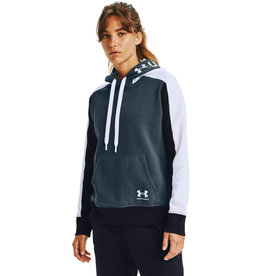 Under Armour Rival Flece Grphic CB Hoodie - Mechanic Blue-White-White