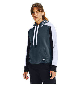 Under Armour Rival Fleece Graphic CB Hoodie - Mechanic Blue-White-White