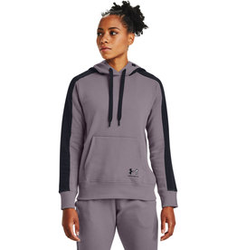 Under Armour Rival Flece Grphic CB Hoodie - Slate Purple-Black-Black