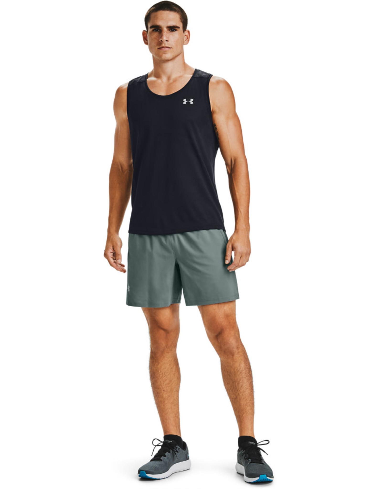 Under Armour Launch 2-in-1 shorts - Lichen Blue - Black