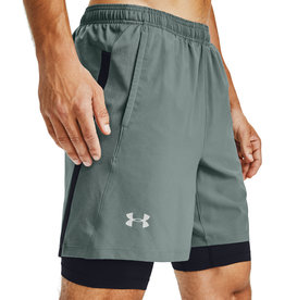 Under Armour Launch 2-in-1 shorts - Lichen Blue - Black