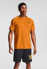 Under Armour Men's UA Tech Tee - Golden Yellow--Black