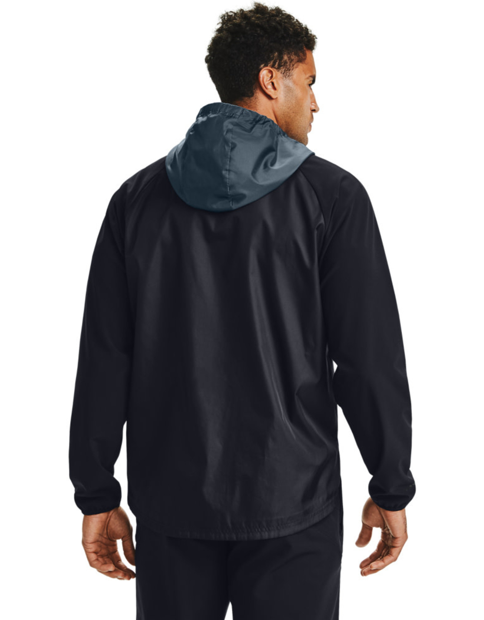 Under Armour Stretch-Woven Hooded Jacket - Black-blue