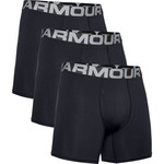 Under Armour UA Charged Cotton 6in 3 Pack-BLK