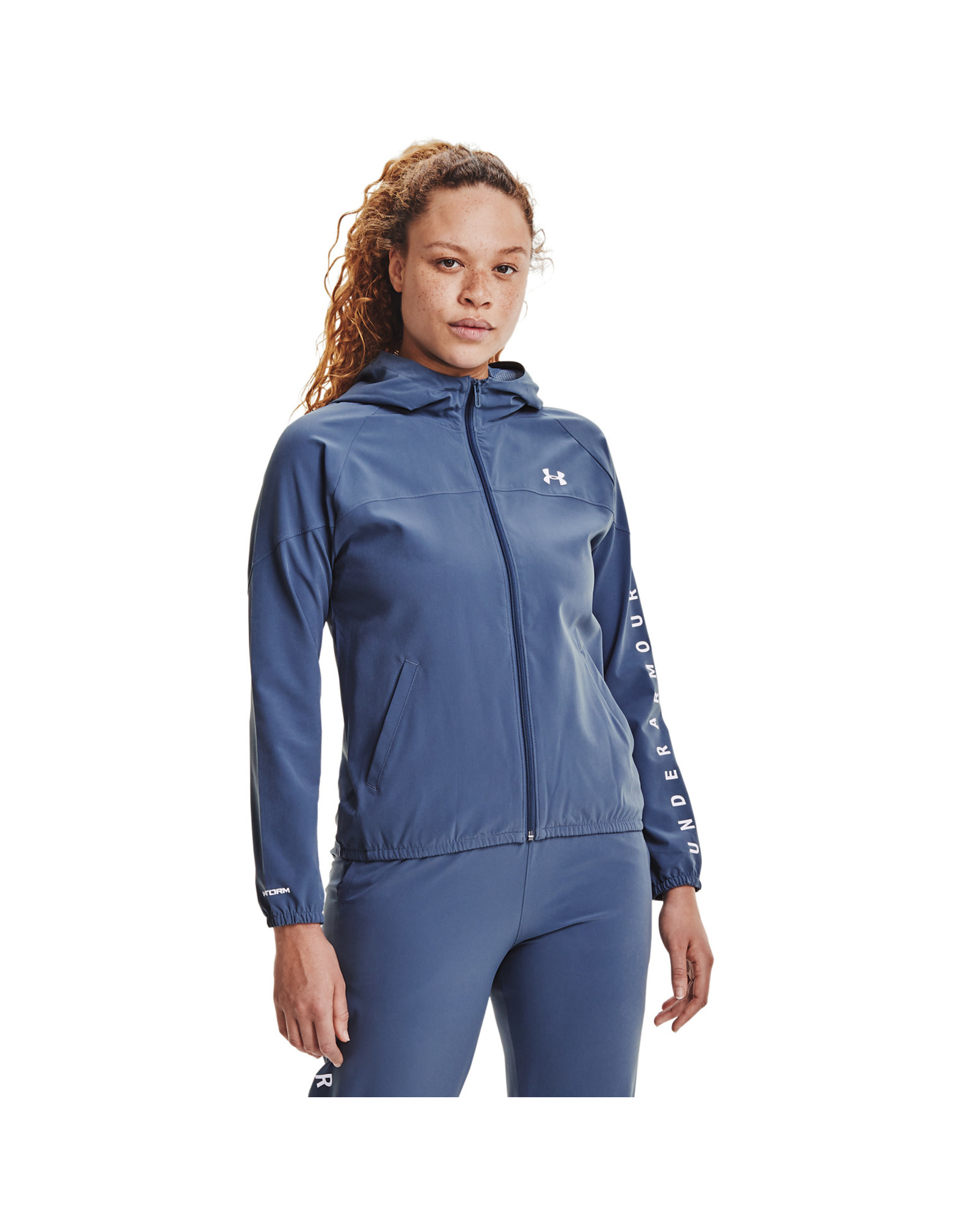 Under Armour Woven Hooded Jacket-BLU