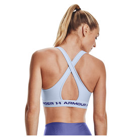Under Armour UA Crossback Mid Bra-BLU