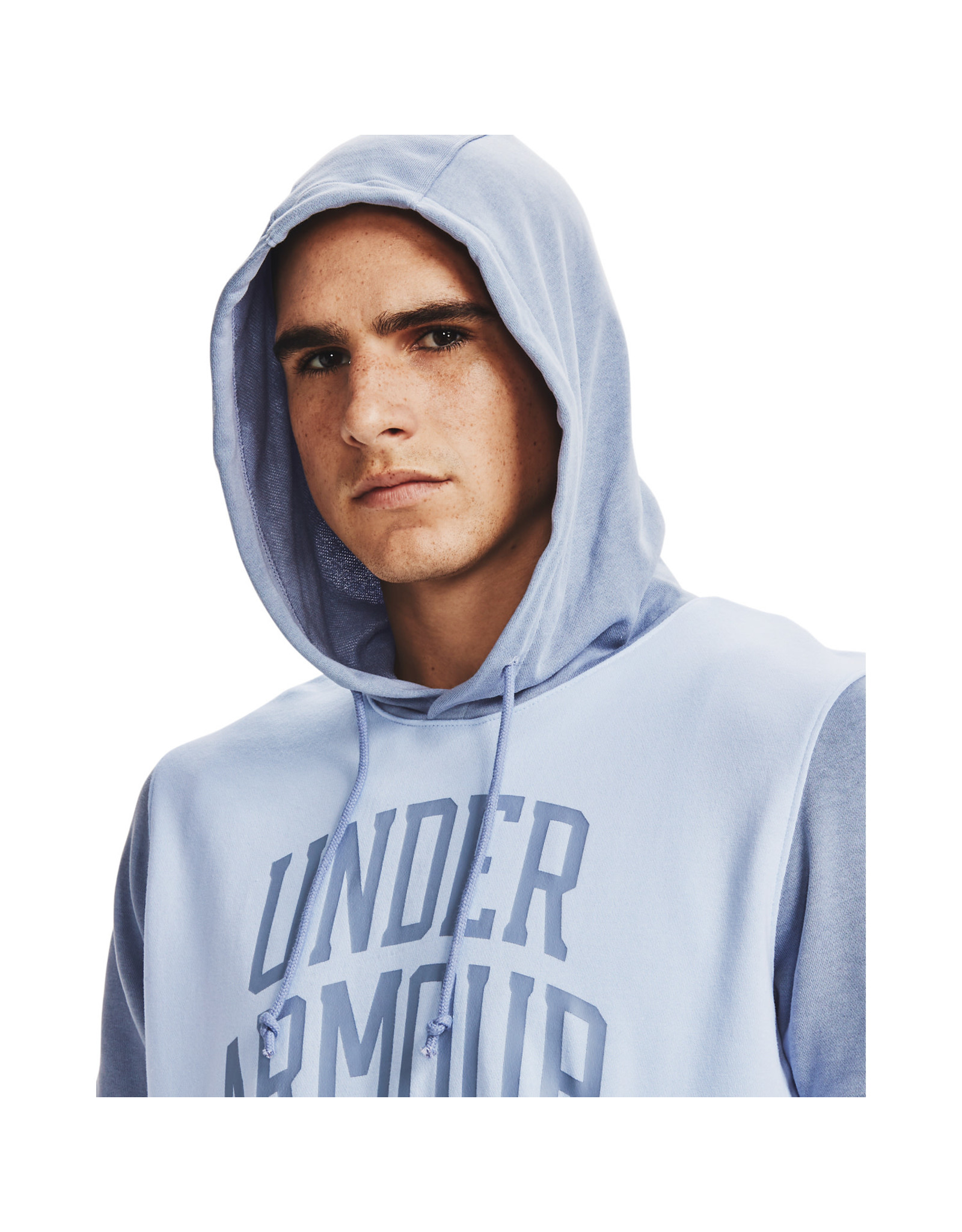 Under Armour UA Rival Terry CLRBLK SS HD-BLU