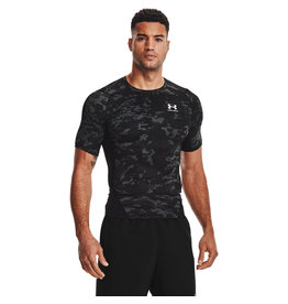 Under Armour UA HG Armour Camo Comp SS-BLK
