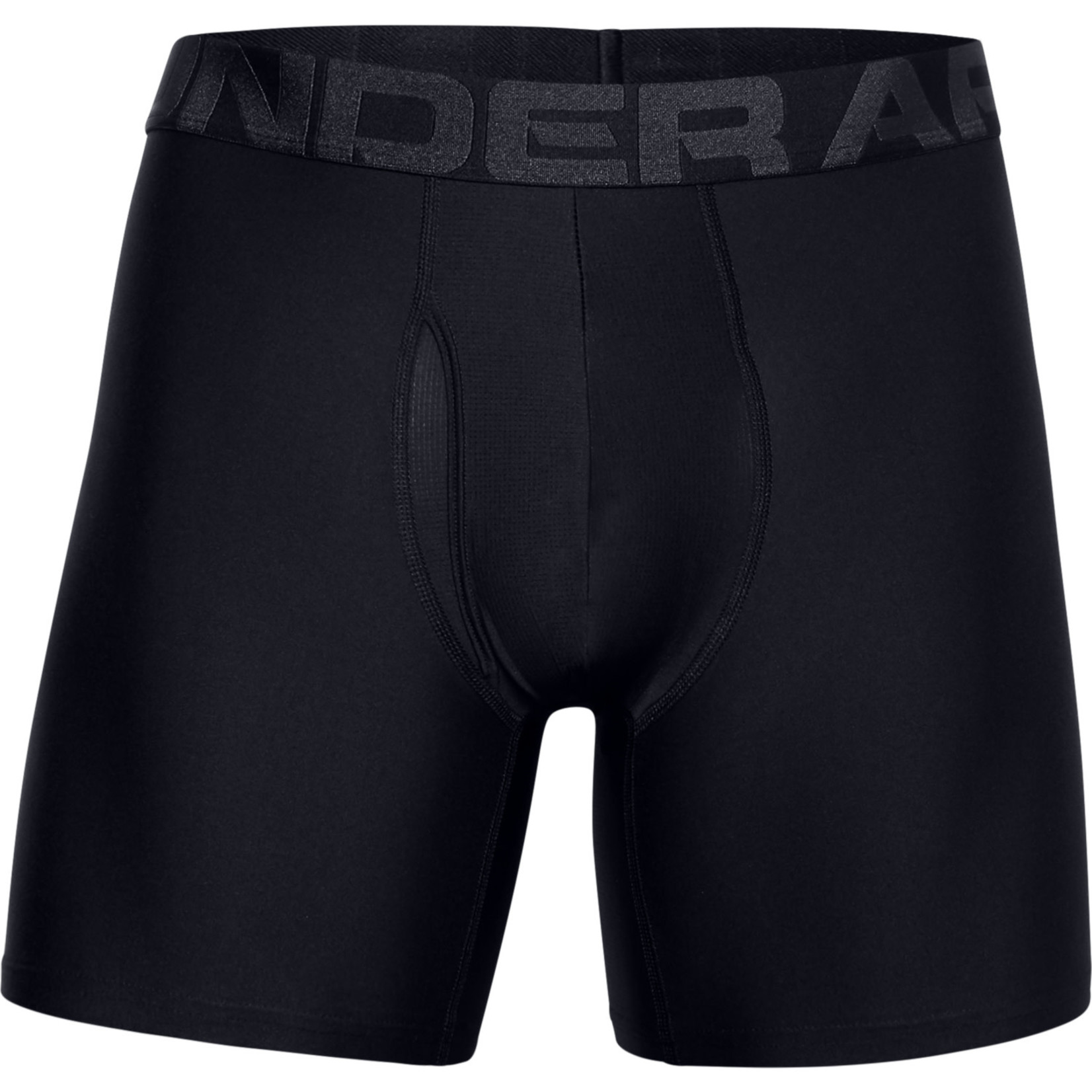 Under Armour UA Tech 6in Boxers 2 Pack-BLACK