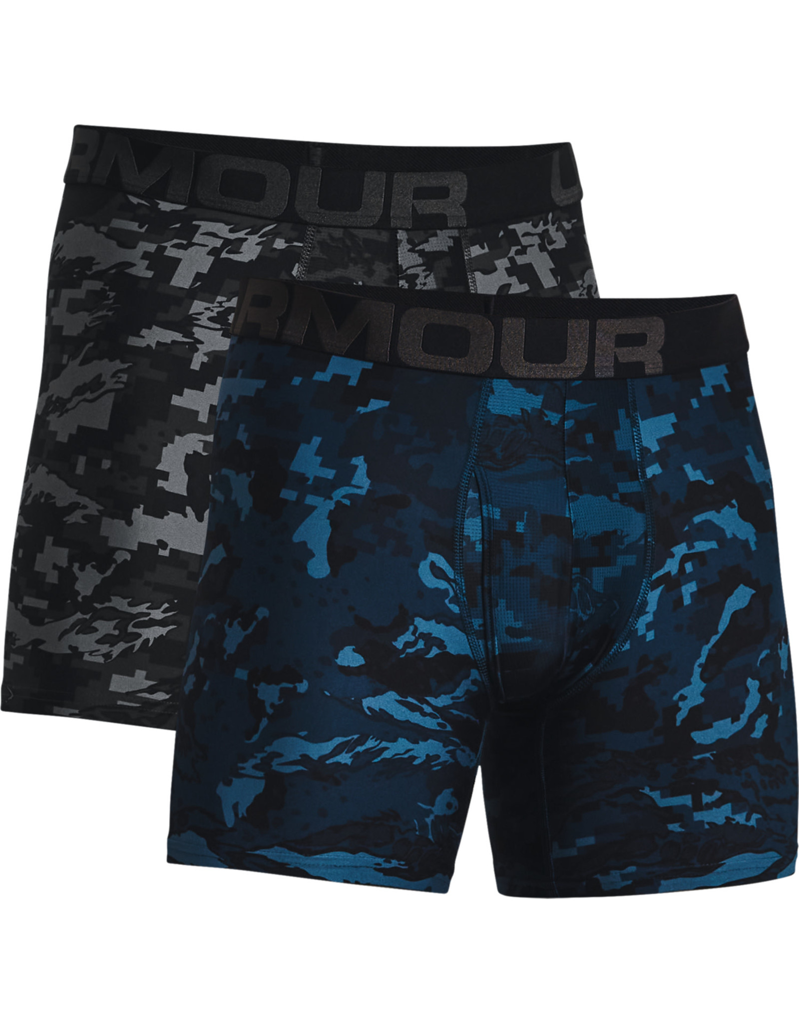 Under Armour UA Tech 6in Novelty Boxers 2 Pack-BLACK