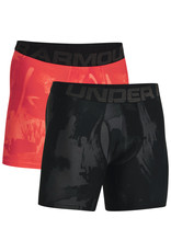 Under Armour UA Tech 6in Novelty Boxers 2 Pack-BLK