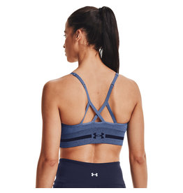 Under Armour UA Seamless Low Long Htr Bra-BLU