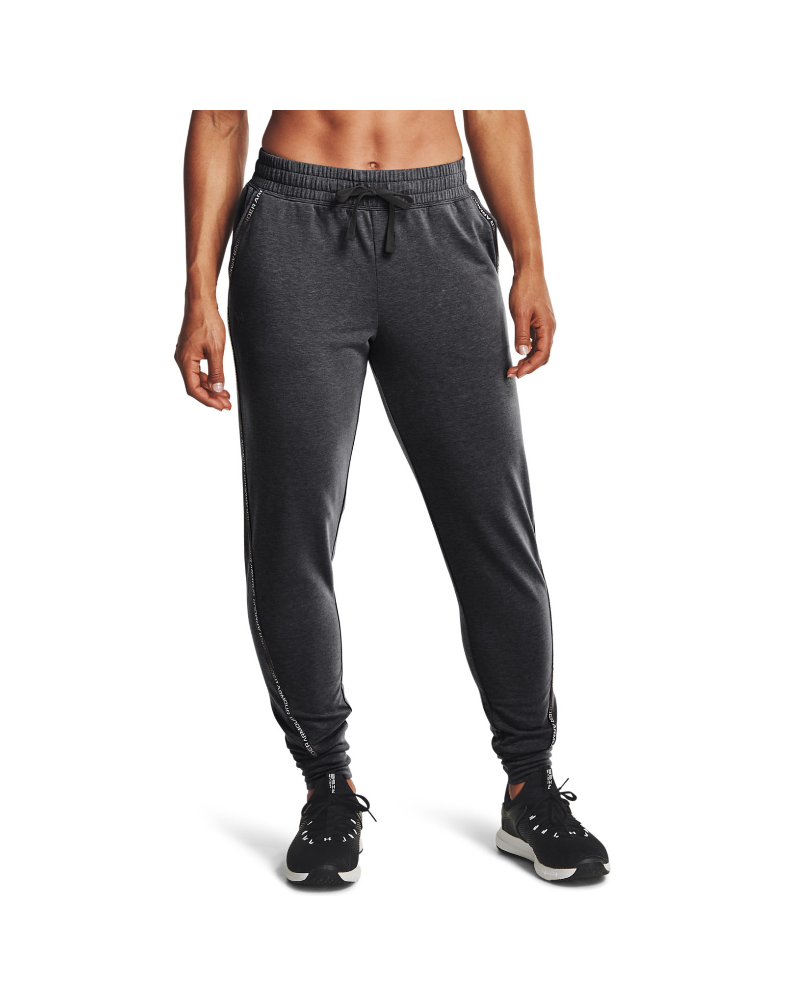 Under Armour UA Rival Terry Taped Pant-GRY