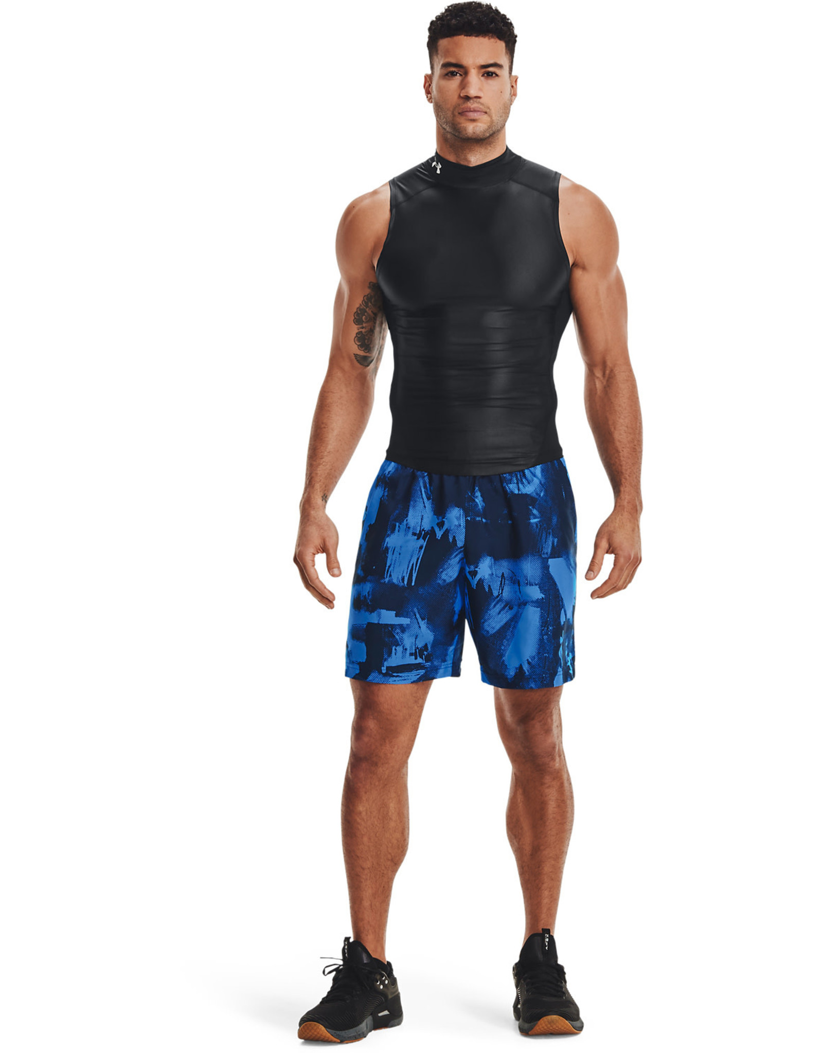 Under Armour UA Woven Adapt Shorts-NVY