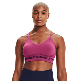 Under Armour UA Seamless Low Long Bra-PNK