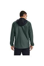 Under Armour Stretch-Woven Hooded Jacket - Lichen Blue-Black-Lichen Blue