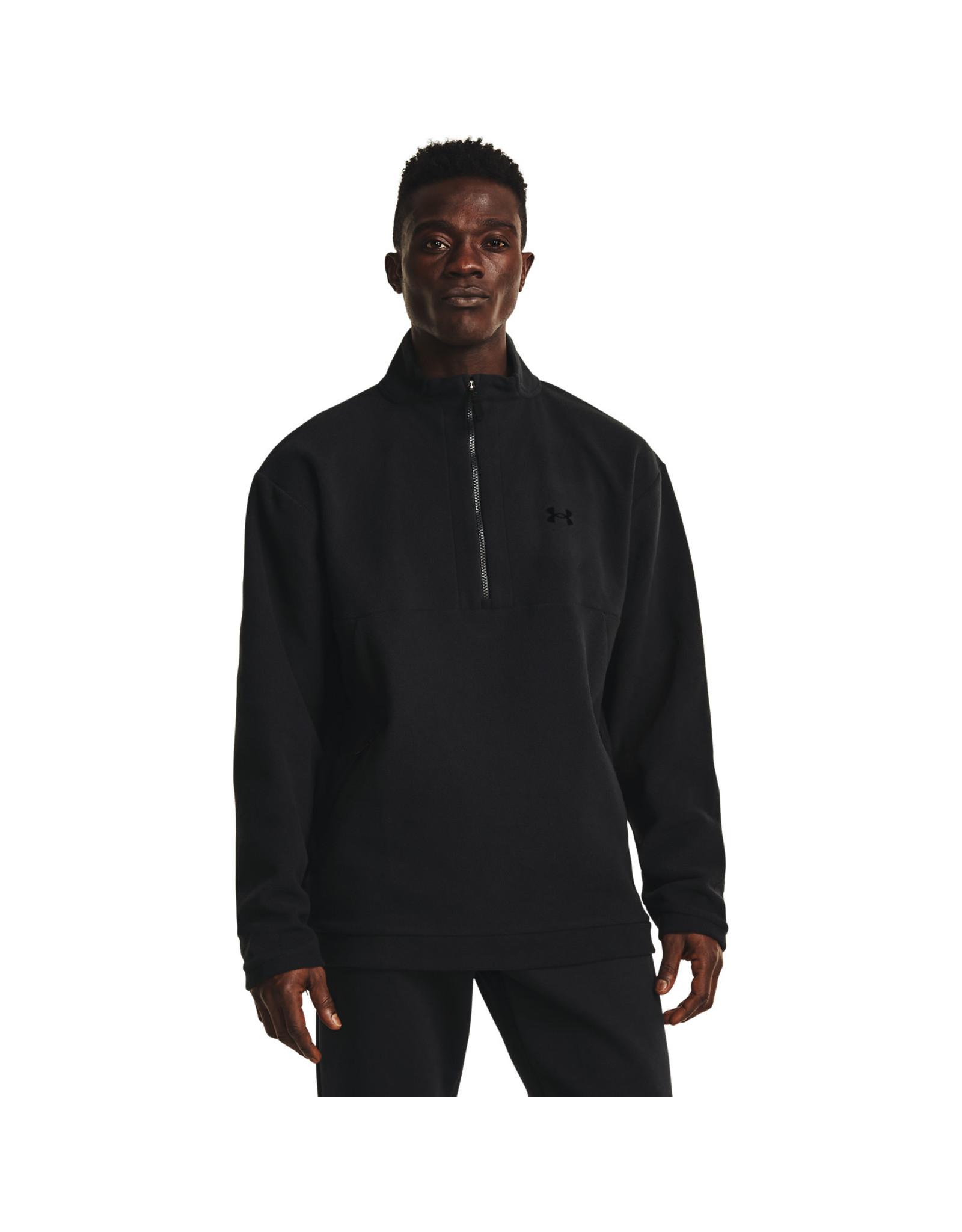 Under Armour UA RECOVER Fleece ¼ Zip - Black-Black-Black