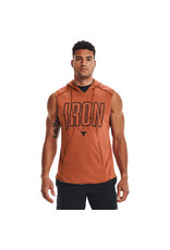 Under Armour UA Project Rock Terry Iron Sleeveless Hoodie-ORG