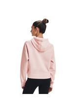 Under Armour Rival Fleece Mesh Hoodie-Pink